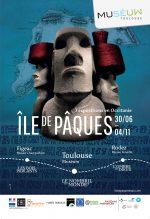 exposition d'un Moaï de 3 mètres de hauteur au muséum de Toulouse