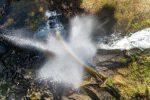 Vue aérienne des cascades