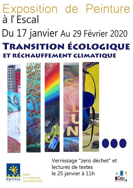 Exposition : Transition écologique et réchauffement climatique par l'association CREEA