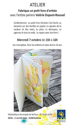 Atelier Livre d'artiste par Valérie Dupont-Roussel