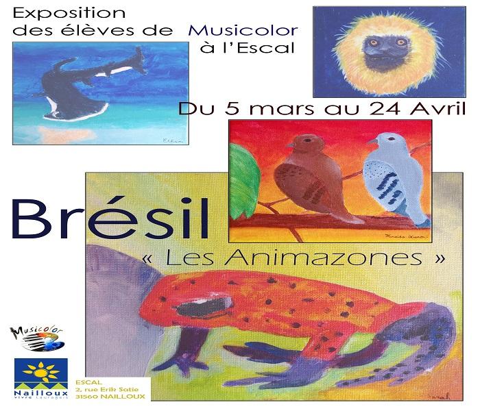 Exposition : Brésil – Les Animazone par Musicolor