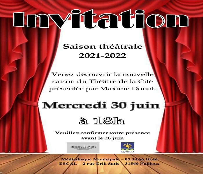 You are currently viewing Invitation à la présentation théâtrale 2021/2022