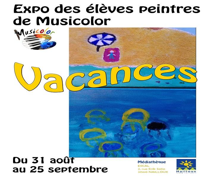 You are currently viewing Exposition : Vacances par les artistes peintres de Musicolor